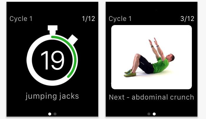 7 Minute Workout Watch App