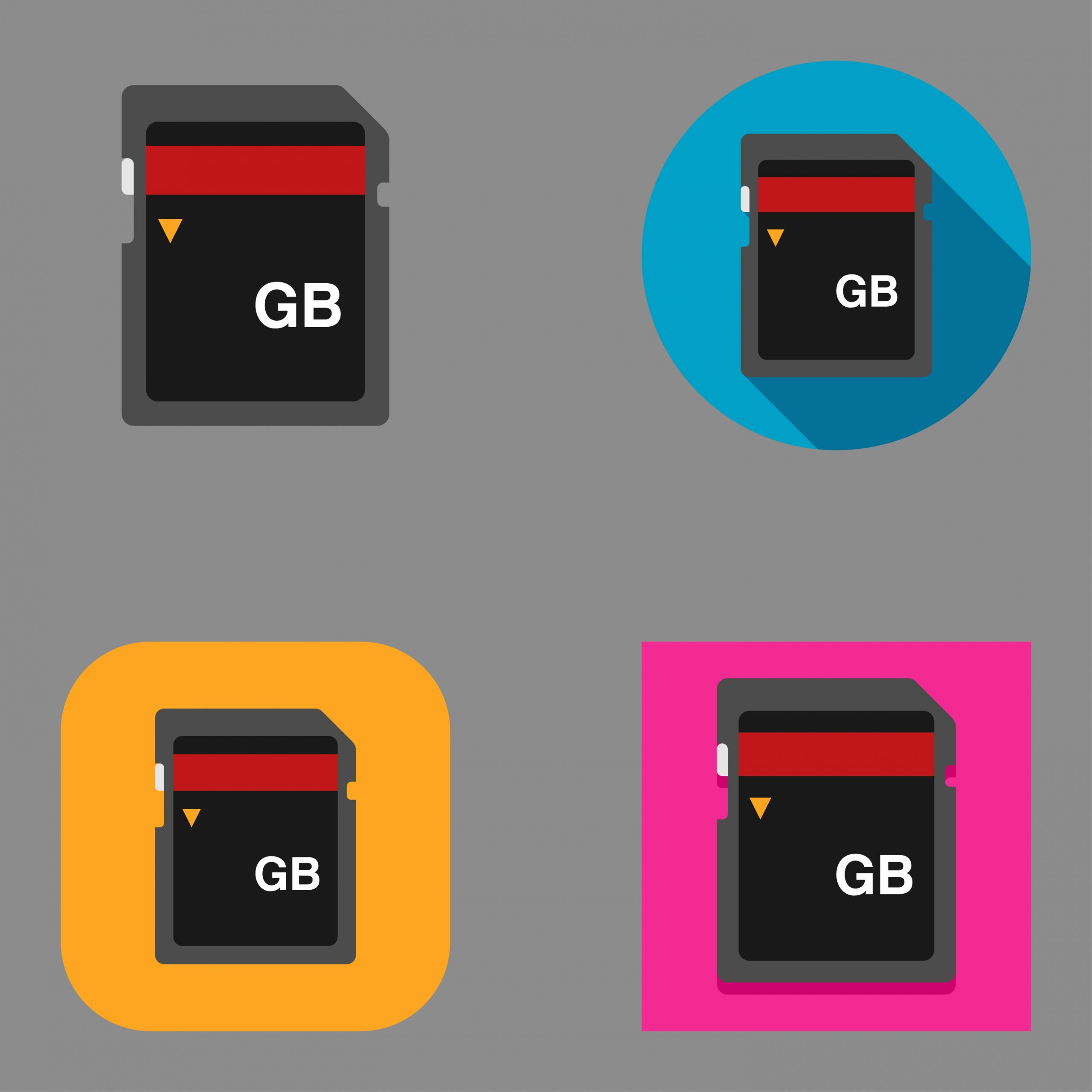 Graphic designs of micro-SD cards