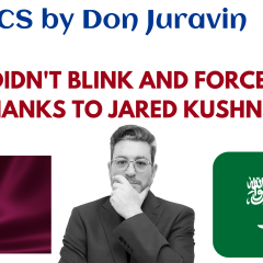 QATAR DIDN'T BLINK AND FORCED PEACE (THANKS TO JARED KUSHNER) SAYS DON JURAVIN
