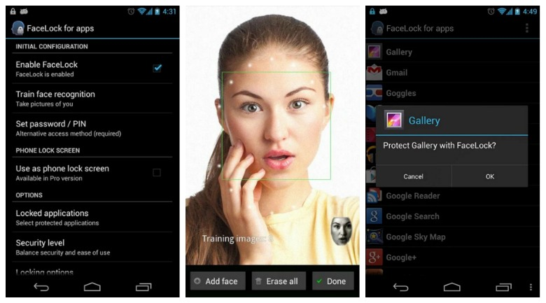 android facial recognition
