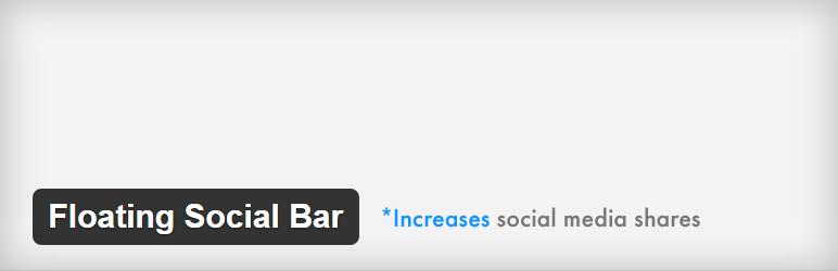 floating social bar social media plugin