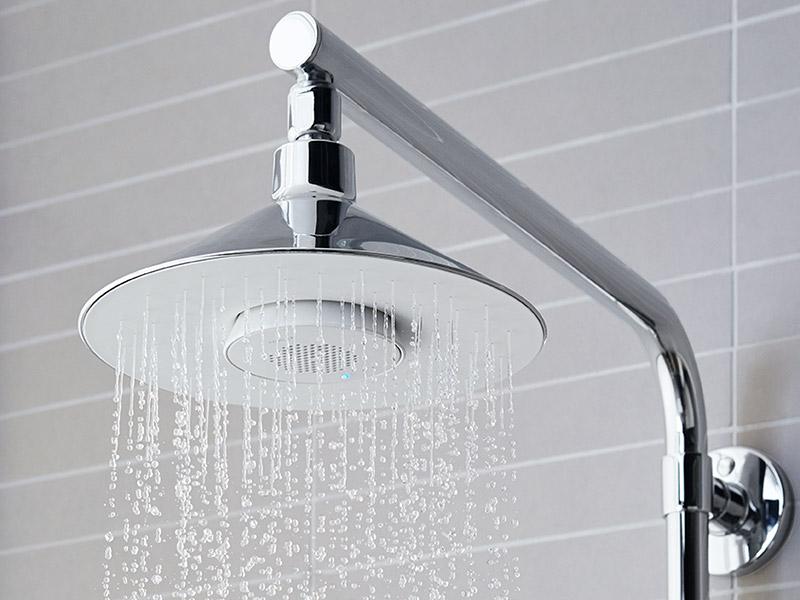shower head built in speaker